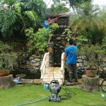 Garden-waterfall-pond-cleaning