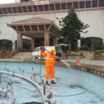 bicc fountain cleaning with karcher high pressure washer