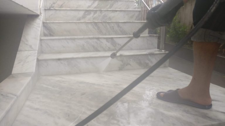 cleaning-marble-with-high-pressure-washer-in-nepal