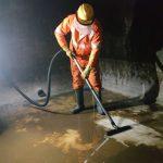 removing-sludge-of-underground-water tank-at-annapurna-arcade-nepal