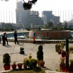 National Convention Center (BICC) Outdoor garden waterfall pond cleaning service in nepal