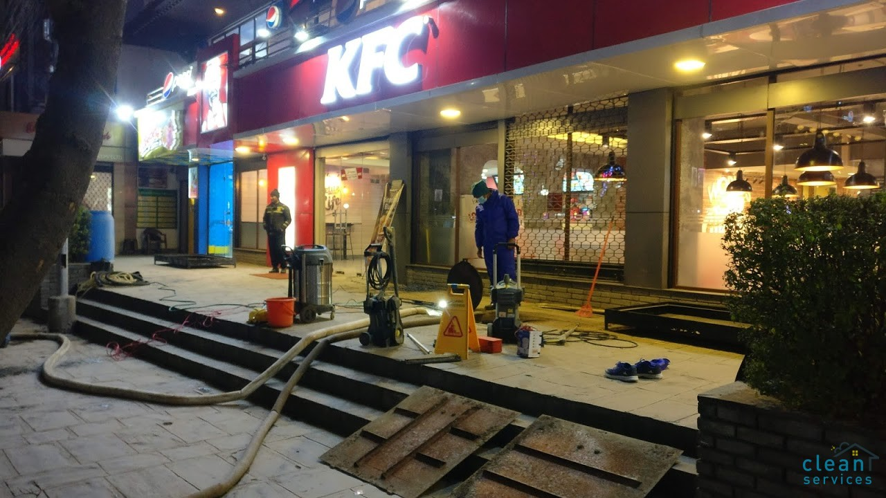 water tank cleaning at kfc durbar marg