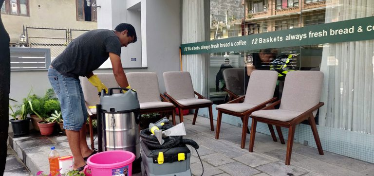 preparing-equipment-for-chair-cleaning-12-basket-lalitpur-nepal